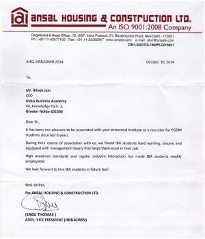 Ansal Housing & Construction Ltd